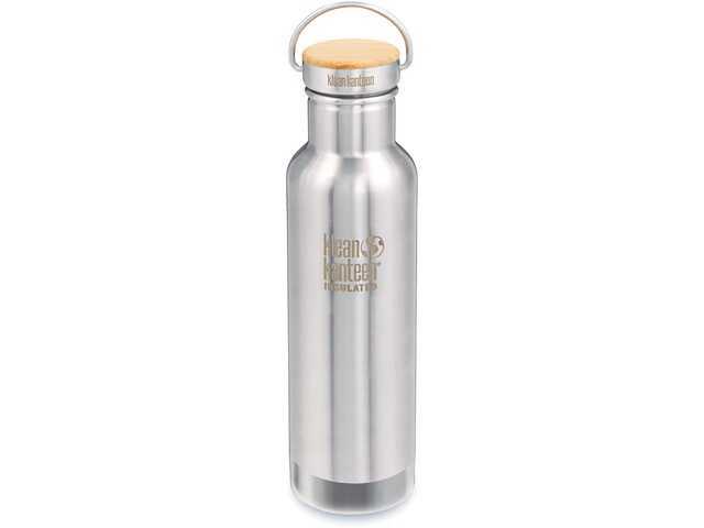 Klean Kanteen Reflect Vacuum Insulated Flaske Bamboo Cap 592ml, mirrored stainless